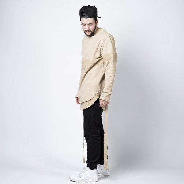 Urban Flavours Mental Extended Crewneck Honey Lace beige