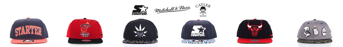 Oferta czapek Starter, Mitchell & Ness oraz Cayler & Sons