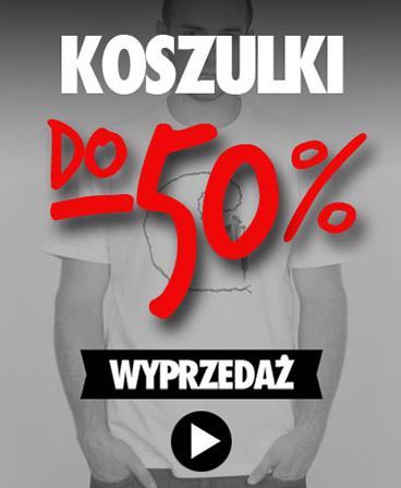 WYPRZEDAŻ koszulek - do -50%