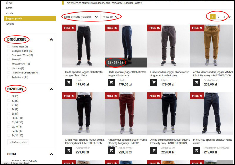 How to order – point 2 – Product list, filtering