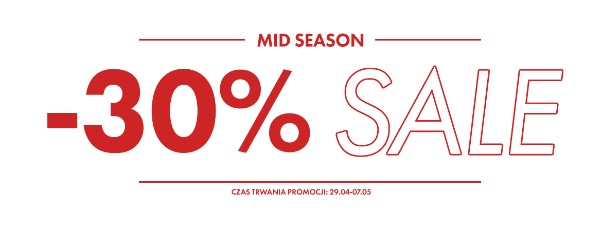 mid Season sale do -30% w bludshopie
