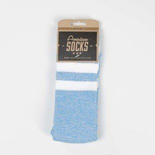 American Socks Blue Noise - Mid High blue / white - white - white