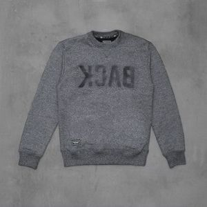 Backard Cartel sweatshirt  Back Crew dark grey heather