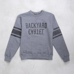 Backard Cartel sweatshirt  crewneck Back Sport dark grey heather