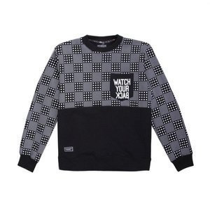 Backard Cartel sweatshirt  crewneck Dots Checker Pocket black