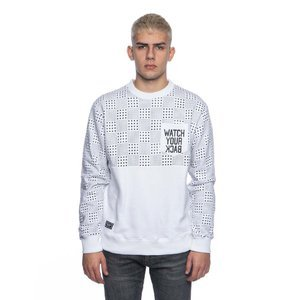 Backard Cartel sweatshirt  crewneck Dots Checker Pocket white