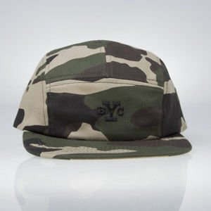 Backyard Cartel BYC 5 Panel Cap woodland camo