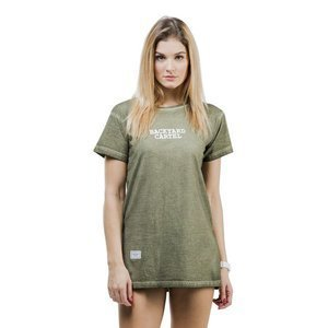 Backyard Cartel Back 2 Back T-Shirt Womens washed khaki QUICKSTRIKE