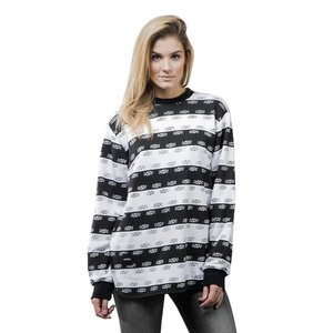 Backyard Cartel Crewneck Stripes black / white