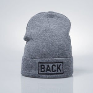 Backyard Cartel Inset beanie hat dark heather grey