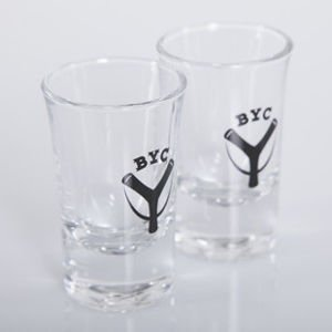 Backyard Cartel glasses Logo BYC transparent / black