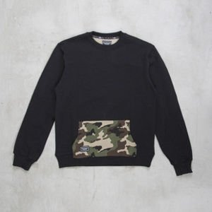 Backyard Cartel sweatshirt Woodland Back crewneck black