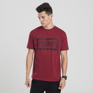 Backyard Cartel t-shirt Label Logo claret
