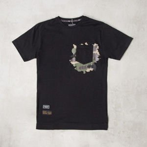 Backyard Cartel x Zulu Kuki t-shirt ZULU black / woodland camo LIMITED EDITION