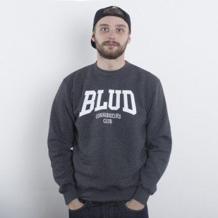 Blud Academy Crewneck dark grey heather
