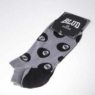 Blud socks 8 Ball no show grey