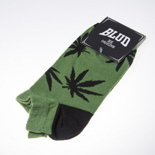 Blud socks Kush no show green