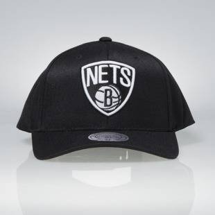Cap Mitchell & Ness snapback Brooklyn Nets black Team Logo High Crown Flexfit 110