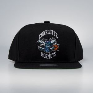 Cap Mitchell & Ness snapback Charlotte Hornets black Wool Solid / Solid 2