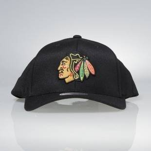 Cap Mitchell & Ness snapback Chicago Blackhawks black Team Logo High Crown Flexfit 110