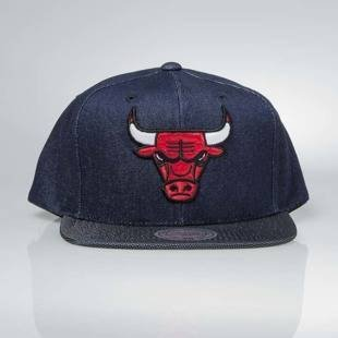 Cap Mitchell & Ness snapback Chicago Bulls denim Raw Denim 3T PU