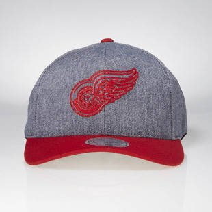 Cap Mitchell & Ness snapback Detroit Red Wings grey / red Link Flexfit 110