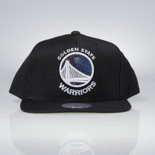 Cap Mitchell & Ness snapback Golden Satate Warriors black Dark Hologram