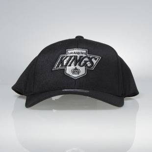 Cap Mitchell & Ness snapback Los Angeles Kings black Team Logo High Crown Flexfit 110