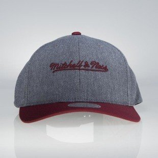 Cap Mitchell & Ness snapback M&N Own Brand grey / burgundy Link Flexfit 110
