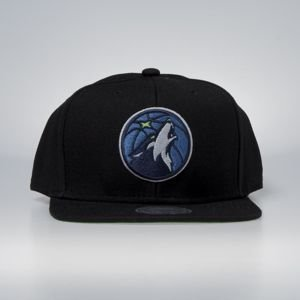 Cap Mitchell & Ness snapback Minnesota Timberwolves black Wool Solid / Solid 2
