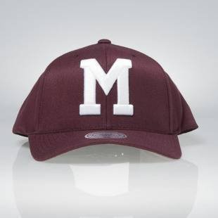 Cap Mitchell & Ness snapback Montreal Maroons burgundy Team Logo High Crown Flexfit 110