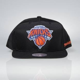 Cap Mitchell & Ness snapback New York Knicks black Black Ripstop Honeycomb