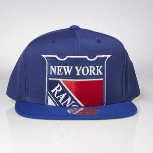Cap Mitchell & Ness snapback New York Rangers blue Cropped XL Logo