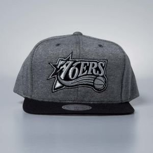 Cap Mitchell & Ness snapback Philadelphia 76ers grey / black Fleece Clear Logo