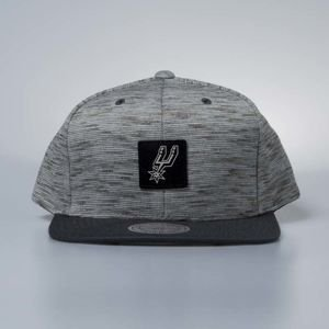 Cap Mitchell & Ness snapback San Antonio Spurs grey / black Brushed Melange