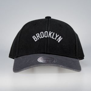 Cap Mitchell & Ness strapback Brooklyn Nets black / charcal 2Tone Wordmark