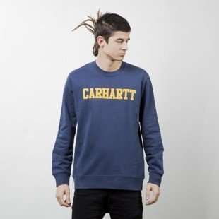 Carhartt WIP College Sweat blue / yellow