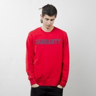 Carhartt WIP College Sweat chili / navy