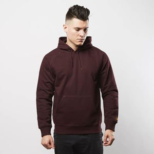 Carhartt WIP Hooded Chase Sweat damson / gold