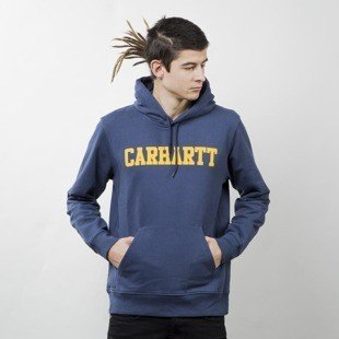 Carhartt WIP Hooded College Sweat blue / yellow