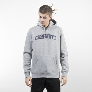 Carhartt WIP Hooded Yale Sweat grey heather / navy