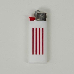 Carhartt WIP Mini Lighter W.I.P. white / red