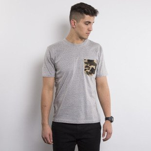Carhartt WIP t-shirt Contrast Pocket grey heather / camo duck