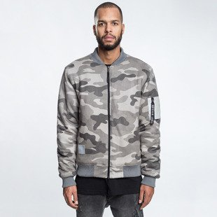 Cayler & Sons BLACK LABEL CSBL Millennivm Bomber Jacket stone camo / reflective grey CSBL-HD16-AP-04