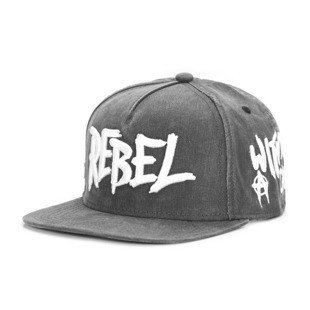 Cayler & Sons Black Label snapback Rebel Cap vintage black / woodland / white BL-CAY-AW16-13