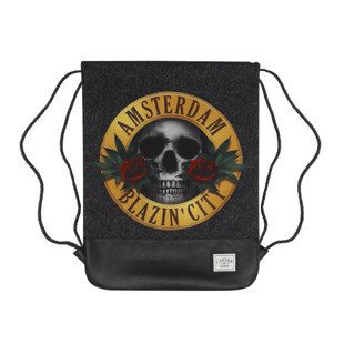 Cayler & Sons Budz N Roses Gymbag acid washed black / mc GL-CAY-SU16-GB-03