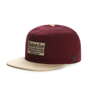Cayler & Sons CL 1-800 Deconstruct Snapback Cap maroon / sand CL-CAY-HD16-01