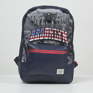 Cayler & Sons WL Brooklyn Skyline Uptown Backpack navy / red / mc