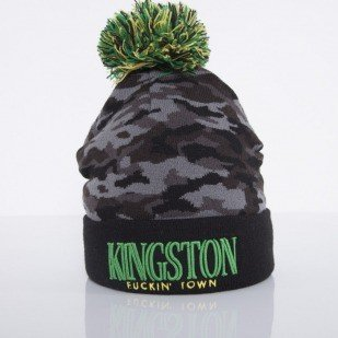 Cayler & Sons beanie Kingston Pom Pom black camo / rasta  CAY-AW14-BN-12-01