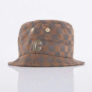 Cayler & Sons bucket hat Checkers brown / gold (GLD-CAY-AW15-BH-01)